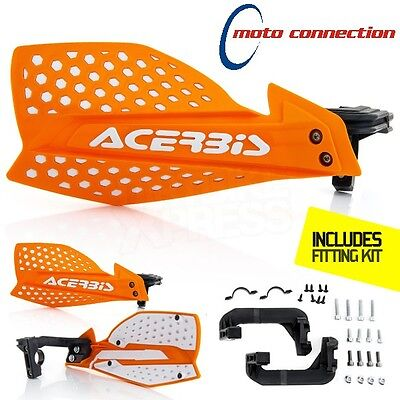 White//Orange Acerbis Uniko Vented Handguards