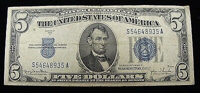 Nice 1934 D $5 Red Silver Certificate - Must See!!!