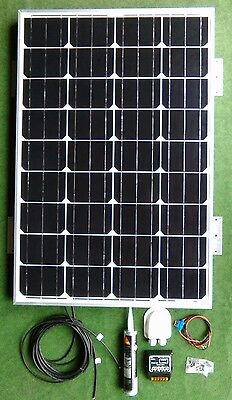 100 WATT MOTORHOME CAMPER VAN CARAVAN SOLAR PANEL FULL KIT LED controller 100w