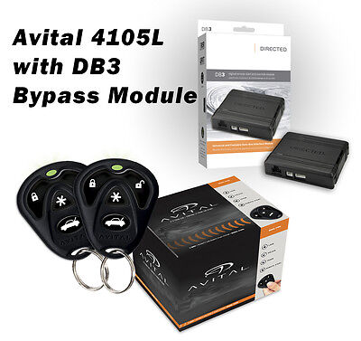 Avital 4105L Remote Start Keyless Entry with DB3 Bypass Module Package 1500 Ft