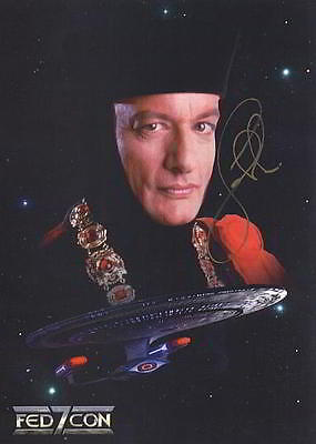 ORIGINAL Autogramm John De Lancie * Q * Star Trek The Next Generation