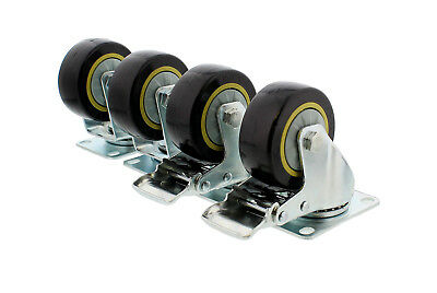 """(Closeout) ABN Swivel Plate Caster Wheels 4"""" Set of 4 Furniture and Equipment"""