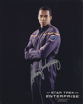 ORIGINAL Autogramm Anthony Montgomery *  T. Mayweather * Star Trek: Enterprise