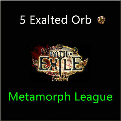 Path of Exile 5 x Exalted Orb PoE Item Blight League Softcore NA EU PC