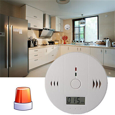 New LCD CarboN Monoxide RoHs Poisoning Gas Warning Sensor Detector Home Safety