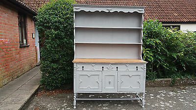 Painted Welsh Dresser with Jacobean style detail