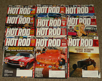 2013 Hot Rod Magazine 11 Issues Missing December