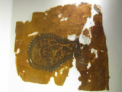 Ancient Egyptian Coptic Textile Fragment  CT3, 4th to 7th Century AD