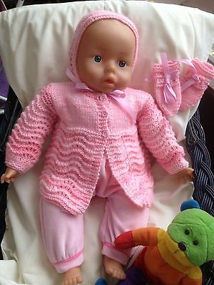 Hand knitted baby set