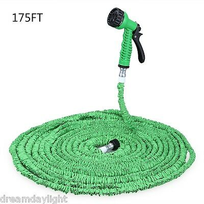 175FT 3 Times Expandable Garden Hose Water Pipe with 7 Modes Spray Gun