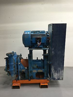 "Goulds 5500 3""X4""X17"" 75 HP Slurry Pump w/ Motor"