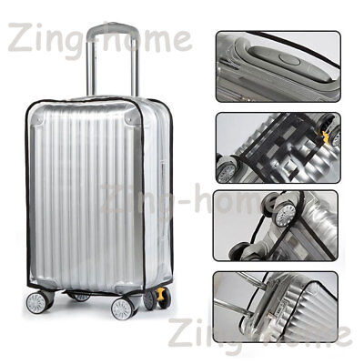 "PVC Dust-proof Waterproof Transparent Luggage Protector Suitcase Cover 20"" - 30"""