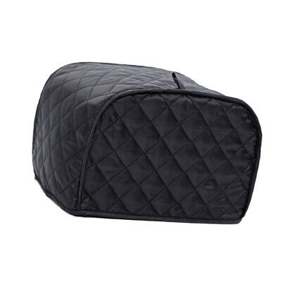 Cotton 2 Slice Toaster Cover Appliance Oven Cover Dust-Proof Black Grid