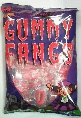 Halloween Gummi Fangs Lollies (300g - Approx. 40 Pieces)