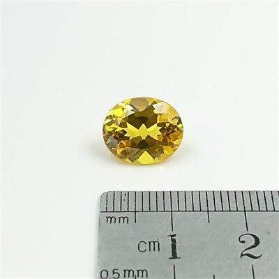 SAPPHIRE YELLOW GEMSTONE x1 - 12 x 10mm Oval cut Synthetic Sapphire - Free Post