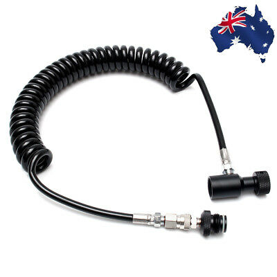 Heavy Remote Thick Coiled Hose ASA Quick Release Tool HPA CO2 For Paintball Tank