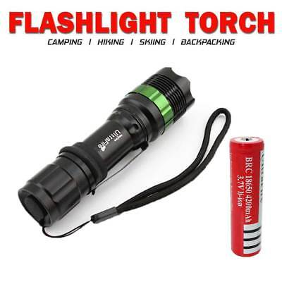 12000LM T6 Police LED Zoomable Flashlight Waterproof Torch Light Lamp 18650 AAA