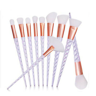 10 Pcs Brushes Blusher Makeup Brush Concealer Eyeshadow Foundation Beauty