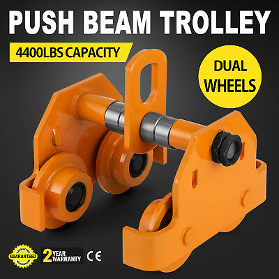 2 Ton Push Beam Trolley Adjustable Overhead Solid Steel Be Highly Praised