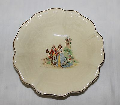 Vintage: 1950's: J&G Meakin Sunshine no.rd561073: Candy Dish with Gold Tipped Ed