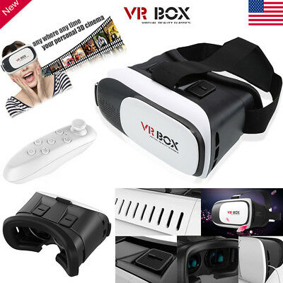 3D Glasses VR Box Headset Google Cardboard Virtual Reality for iPhone 7 Samsung