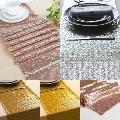 Sparkly Sequin 12'' x 72'' Table Runner Glamorous Wedding Party Decoration