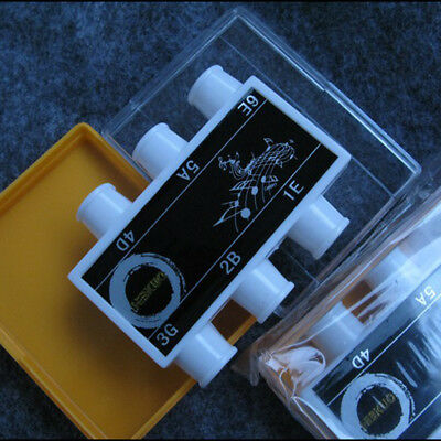 White Plastic Guitar Pitch Channel 6 Tones Pipe Tuner Acoustic Electric Guitars