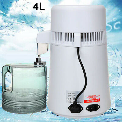 Water Distiller 4L Stainless Steel Pure Water Purifier Filter 1L/h For RV Dental