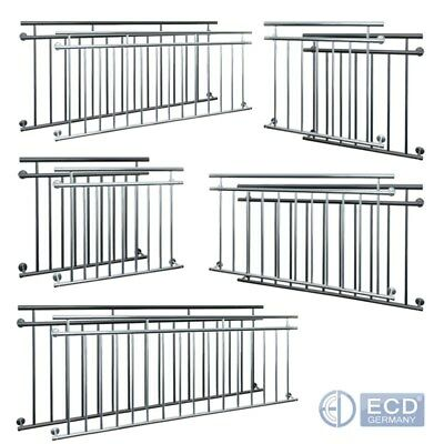 French balcony steel railings balustrades silver anthracite grid 90x100 to 225cm