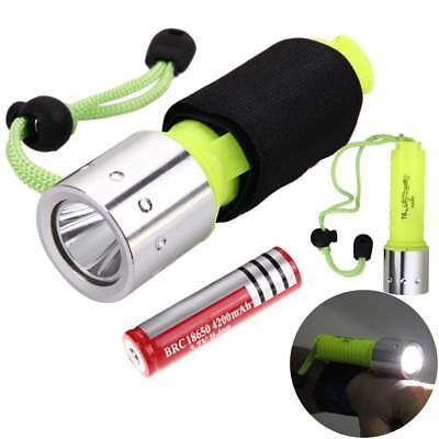 Underwater 50M 12000lm XML T6 LED 18650 Diving Flashlight Torch Lamp +Wrist Band
