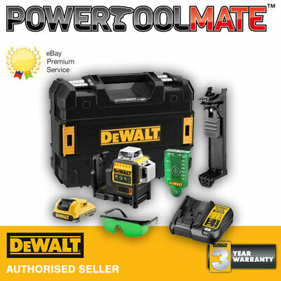 Dewalt DCE089D1G 10.8V Self-Levelling 360° Cross Line Laser c/w 2.0Ah Battery