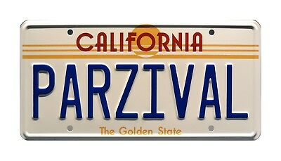 Ready Player One / Wade Watts' DeLorean / PARZIVAL *STAMPED* Prop License Plate