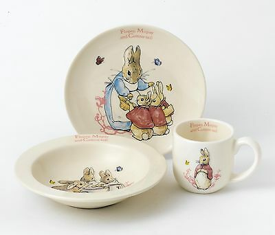 Beatrix Potter Flopsy, Mopsy and Cotton-Tail Three Piece Nursery Gift Set