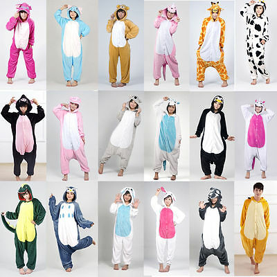 Hot New Unisex Adult Pajamas Kigurumi Cosplay Costume Animal Onesies Sleepwear