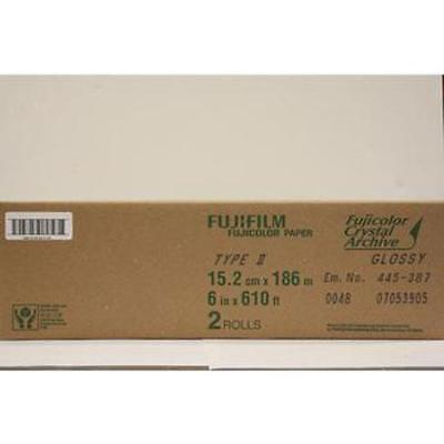 "Fujifilm 6""x610' Roll Crystal Archive Type II Glossy Paper #7053905"