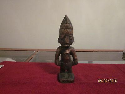 Antique African Fertility Statue or Sculpture, carved wood, blackened with age