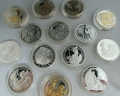 UK Royal Mint Silver Britannia 1997 - 2014 1oz Silver coins Multi listing