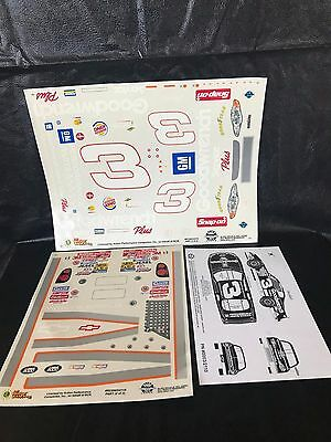 2000 Dale Earnhardt Sr #3 1/24-25 Scale Model Slixx Decal Sheets Goodwrench NIP