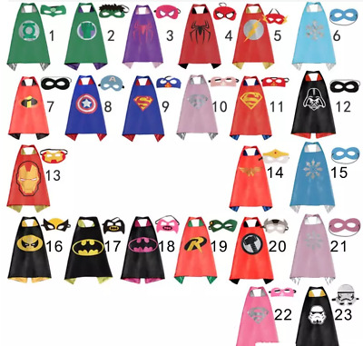 Super hero Kids Children Cape mask costume Superman Batman Ninja Spiderman UK