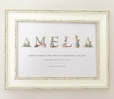 Baby Shower Christening Personalised Nursery Print Gift