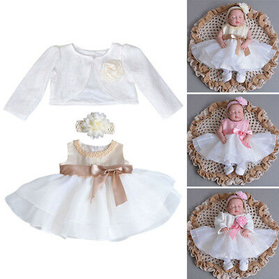 Newest Princess Gown Graceful Baby Girl Christening Dress Bowknot Party Skirt