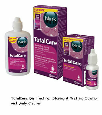 AMO Total Care Hard Contact Lens Solution Cleaner Wetting Soaking FREEPOST blink