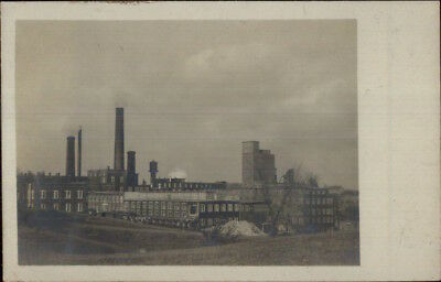 Yarmouth ME Forest Paper Mill c1905 Real Photo Postcard
