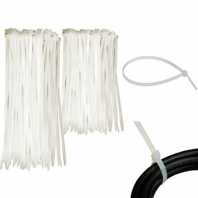 "100 Pc Cable Zip Ties 6"" 8"" Inch Clear Nylon Wire Cords Uv Resistant Tools New"