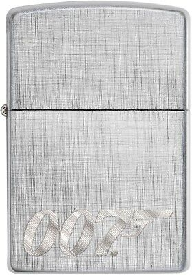 Zippo Choice James Bond WindProof Lighter Engraved Chrome Linen Weave 29562 New