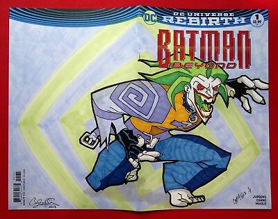 "BATMAN BEYOND #1 BLANK SKETCH VARIANT COVER 1/1 ""The JOKER"" 1 of 1 ART by CARY"