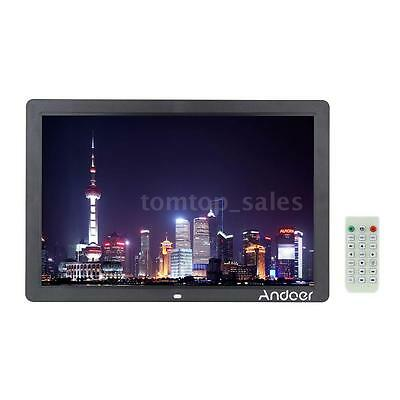 "17"" HD 1080P LED Digital Photo Picture Frame MP3/4 Movie Player Remote Control"