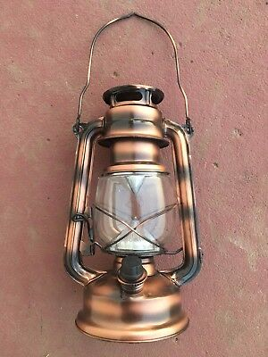LOT OF 2 Rustic Vintage Style LED Copper Decorative Lantern FREE SHIPPING