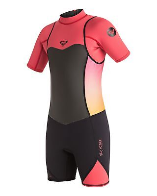 NEW ROXY™  Girls 8-14 Syncro 2/2 Springsuit Wetsuit 2016 Teens Surf