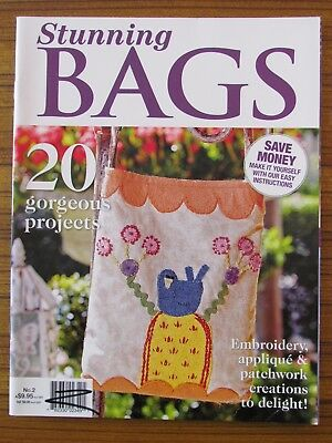 Stunning Bags 2013 Tote Carryall Patchwork Applique Embroidery 20 Projects